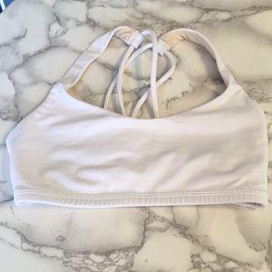 Lululemon white sports bra size 2